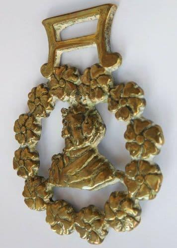 Vintage British horse brass Benjamin Disraeli Lord Beaconsfield Primrose Day